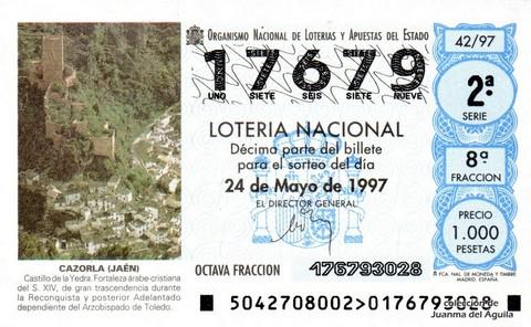 Décimo de Lotería 1997 / 42