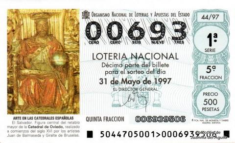 Décimo de Lotería 1997 / 44