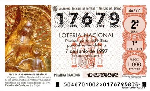 Décimo de Lotería 1997 / 46