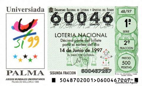 Décimo de Lotería 1997 / 48