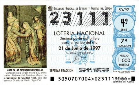 Décimo de Lotería 1997 / 50