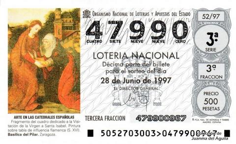 Décimo de Lotería 1997 / 52
