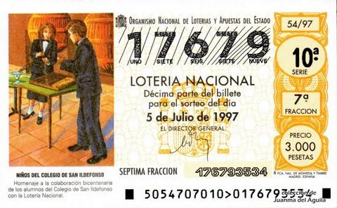 Décimo de Lotería 1997 / 54