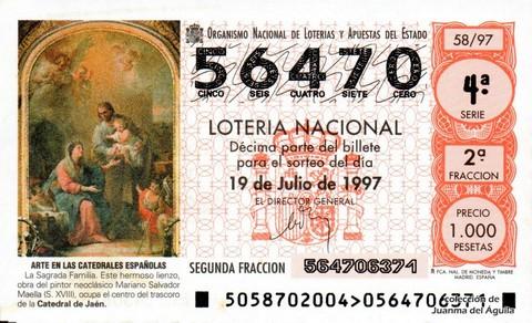 Décimo de Lotería 1997 / 58