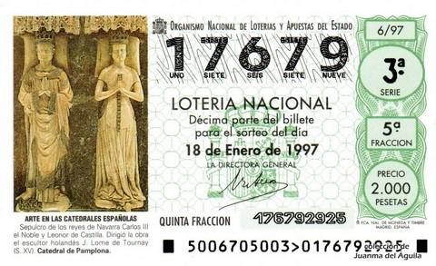 Décimo de Lotería 1997 / 6