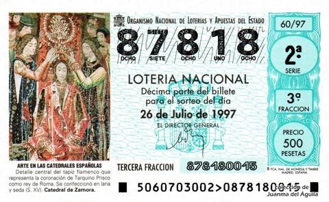 Décimo de Lotería 1997 / 60