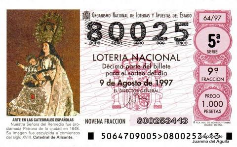 Décimo de Lotería 1997 / 64