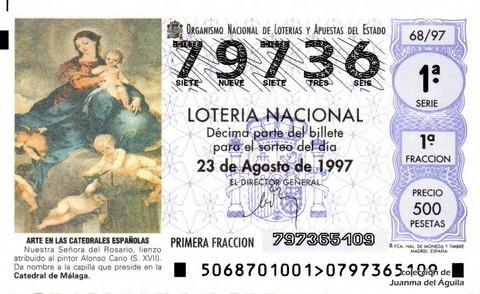 Décimo de Lotería 1997 / 68
