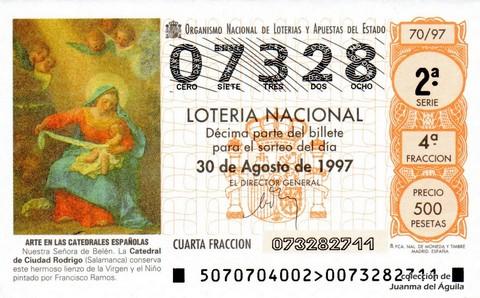 Décimo de Lotería 1997 / 70