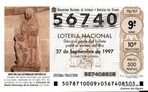 Décimo de Lotería 1997 / 78