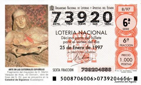 Décimo de Lotería 1997 / 8