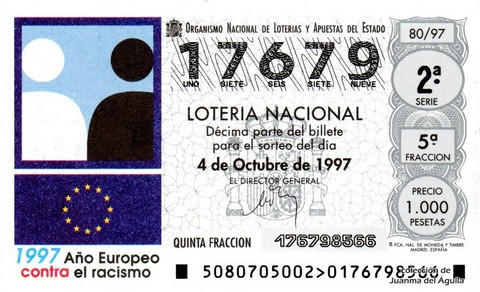 Décimo de Lotería 1997 / 80