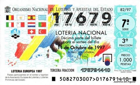 Décimo de Lotería 1997 / 82