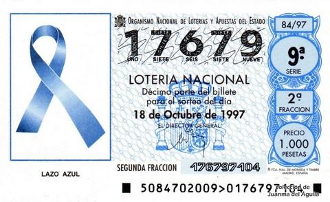 Décimo de Lotería 1997 / 84