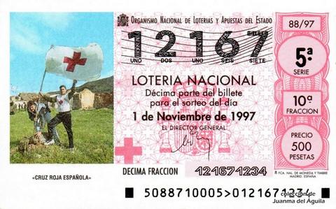 Décimo de Lotería 1997 / 88