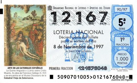 Décimo de Lotería 1997 / 90