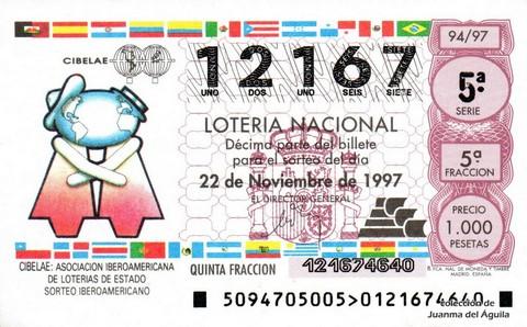 Décimo de Lotería 1997 / 94