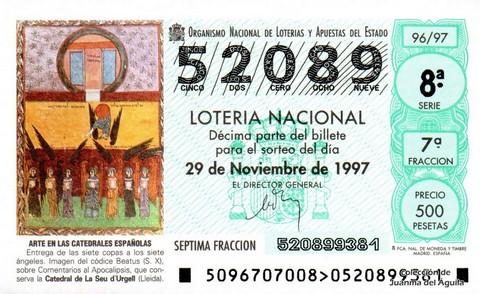 Décimo de Lotería 1997 / 96