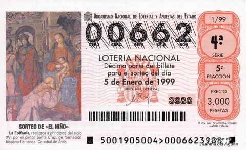 Décimo de Lotería 1999 / 1