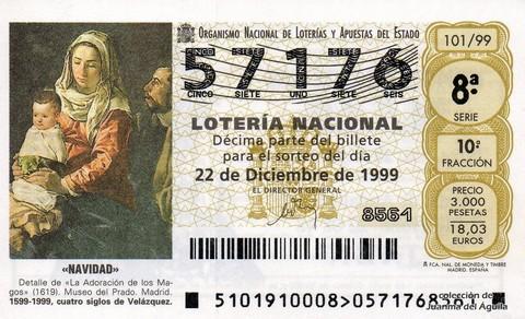Décimo de Lotería 1999 / 101