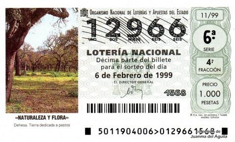 Décimo de Lotería 1999 / 11