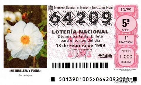 Décimo de Lotería 1999 / 13