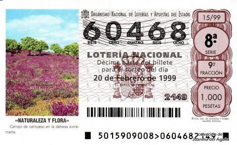 Décimo de Lotería 1999 / 15