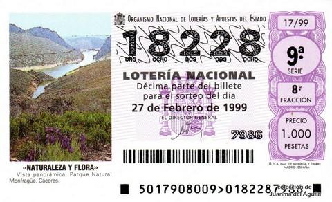 Décimo de Lotería 1999 / 17