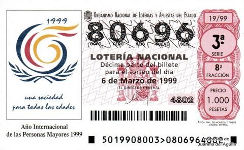 Décimo de Lotería 1999 / 19