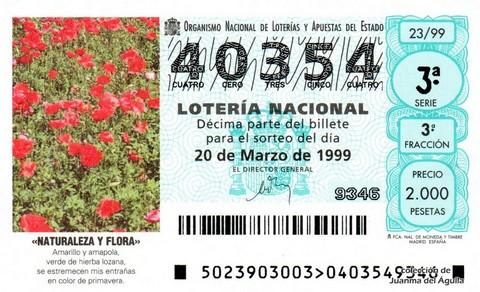 Décimo de Lotería 1999 / 23