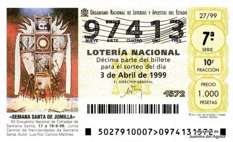 Décimo de Lotería 1999 / 27