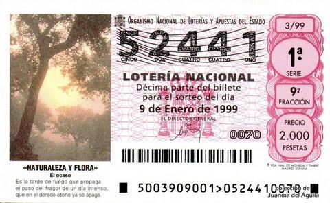 Décimo de Lotería 1999 / 3