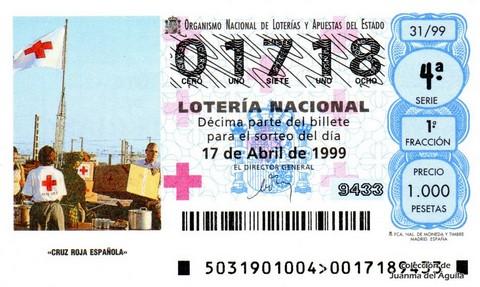 Décimo de Lotería 1999 / 31