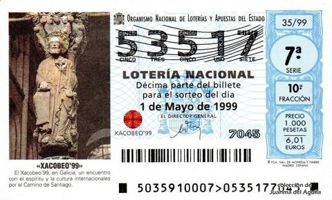 Décimo de Lotería 1999 / 35