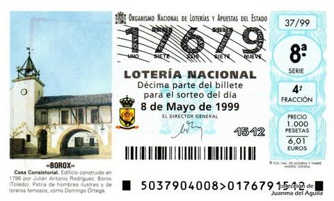 Décimo de Lotería 1999 / 37