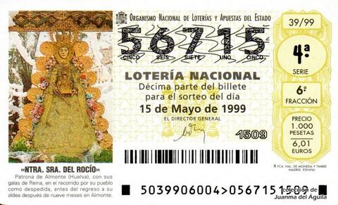 Décimo de Lotería 1999 / 39