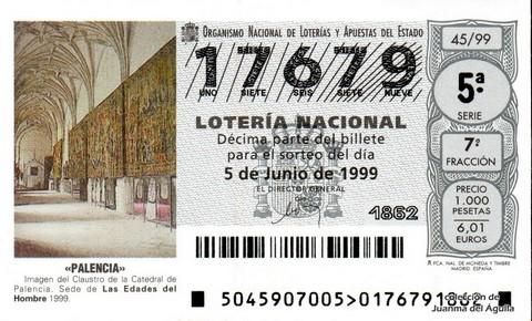 Décimo de Lotería 1999 / 45