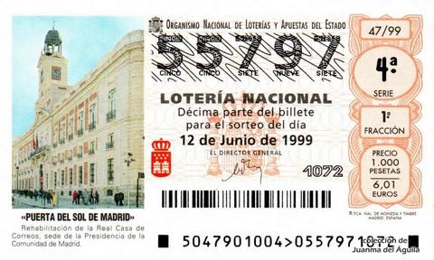 Décimo de Lotería 1999 / 47