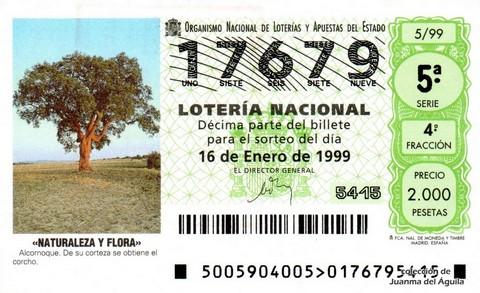 Décimo de Lotería 1999 / 5