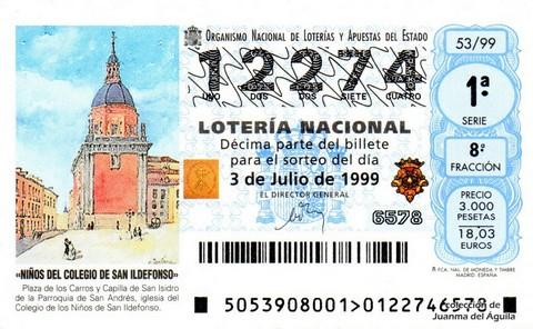 Décimo de Lotería 1999 / 53