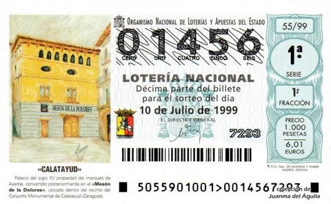 Décimo de Lotería 1999 / 55