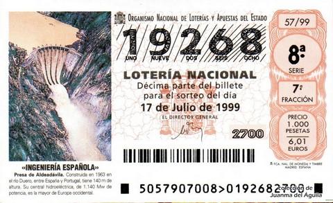 Décimo de Lotería 1999 / 57