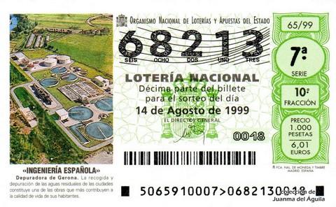 Décimo de Lotería 1999 / 65