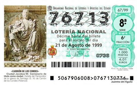 Décimo de Lotería 1999 / 67