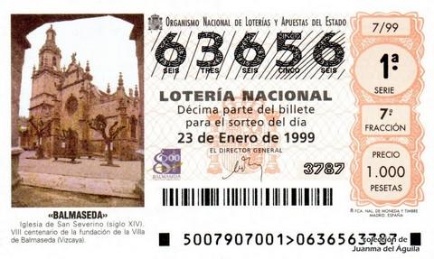 Décimo de Lotería 1999 / 7