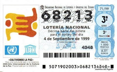 Décimo de Lotería 1999 / 71