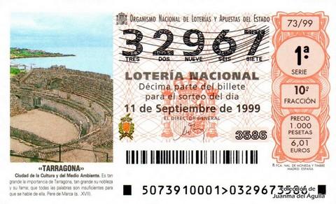Décimo de Lotería 1999 / 73