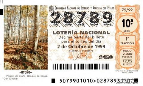 Décimo de Lotería 1999 / 79