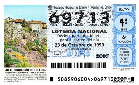 Décimo de Lotería 1999 / 85