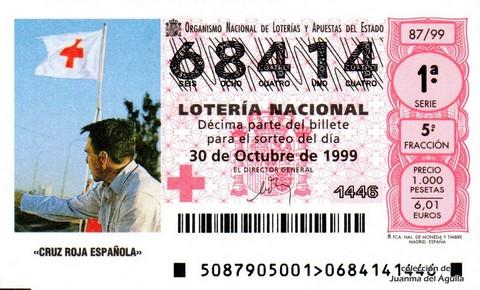 Décimo de Lotería 1999 / 87